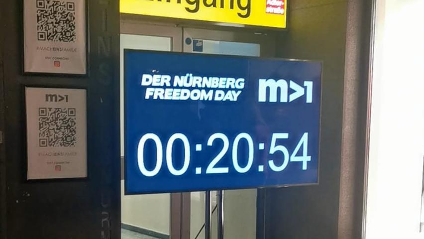 Der Countdown im Mach1 läuft.