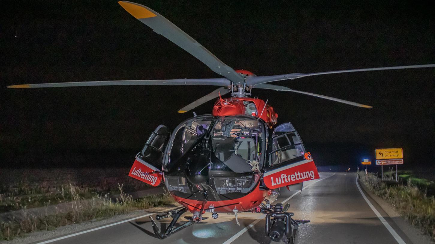 Die beiden lebensgefährlich Verletzten mussten mit dem Hubschrauber in eine Spezialklinik geflogen werden.