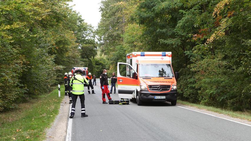 Aus der Gruppe der Radfahrenden wurde niemand verletzt.