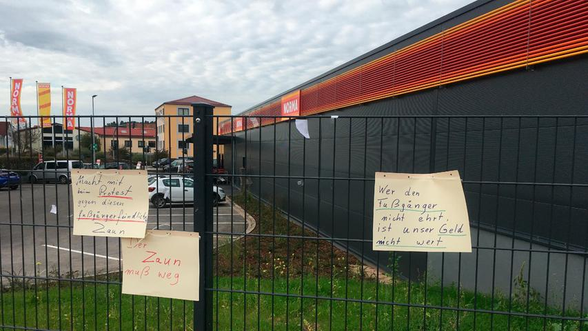 Hilpoltstein: Ein Zaun sperrt Fußgänger aus