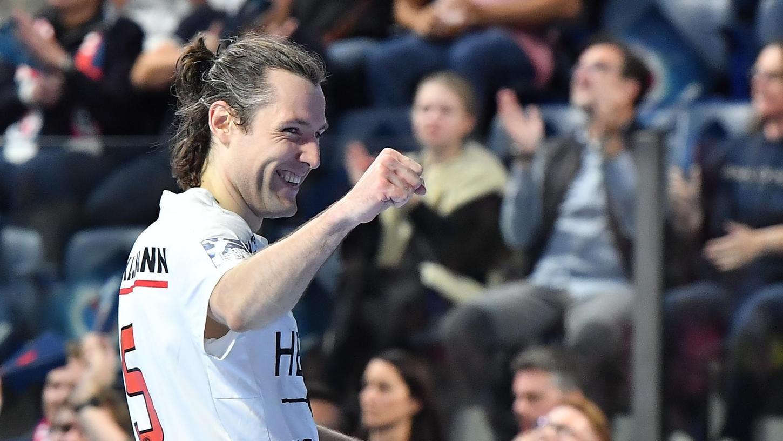 Gewinner-Lächeln: Johannes Sellin und sein HC Erlangen haben die SG Fensburg-Handewitt aus dem Pokal geworfen.