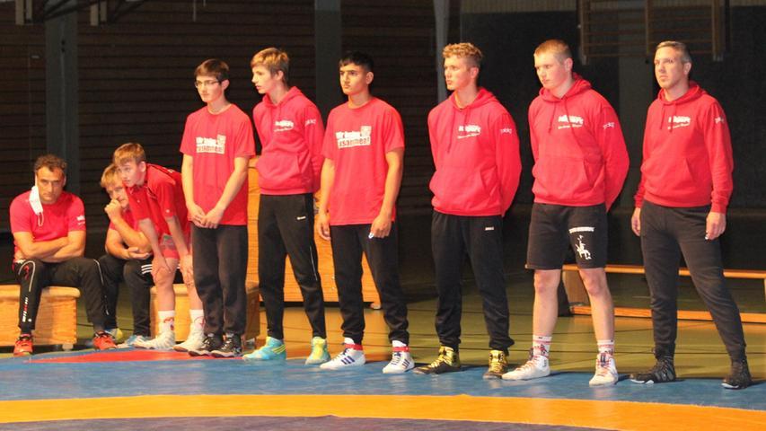 Mit dieser Staffel traten die Weißenburger Ringer in der Landkreishalle zum Kampf gegen die Bundesliga-Reserve aus Lichtenfels an.