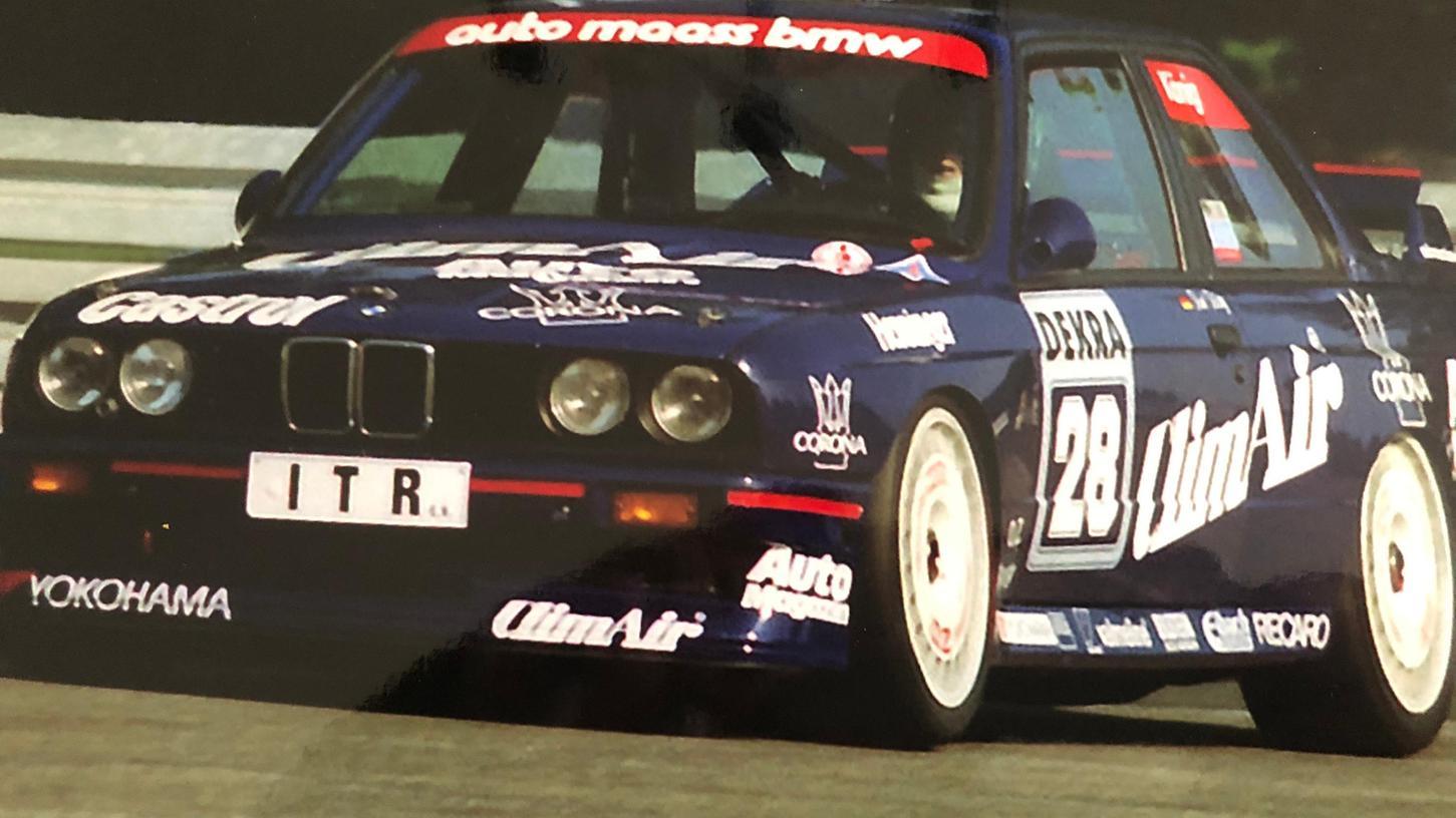 Der Schwabacher Kurt König mit seinem BMW 320.