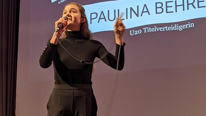 Paunlina Behrend: Sie sicherte sich als eine von drei Poeten in Weißenburg das Ticket für das Finale in der Nürnberger Meistersingerhalle.