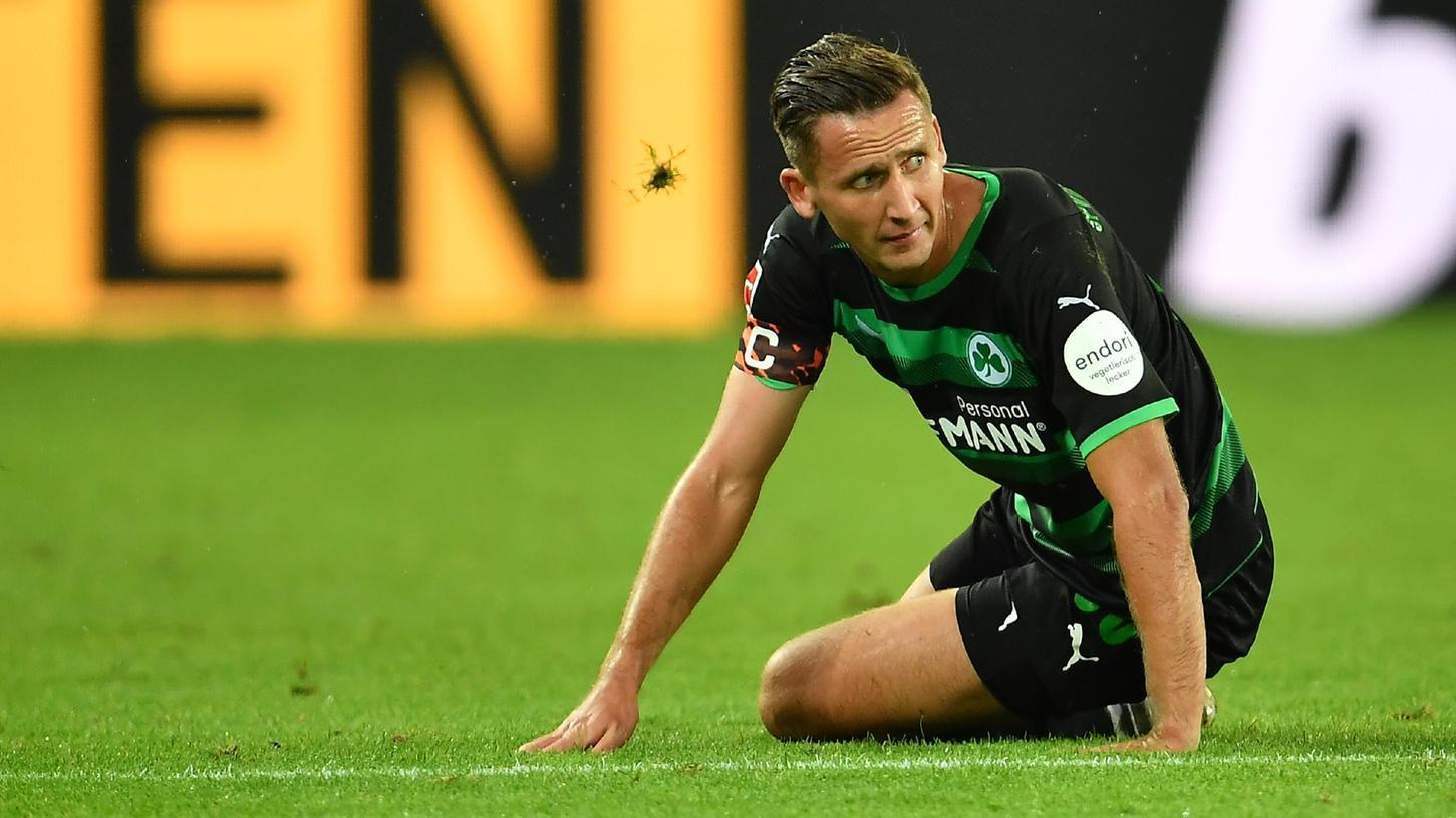 Immer wieder am Boden: Für Paul Seguin und seine Fürther läuft es in der Bundesliga nicht.