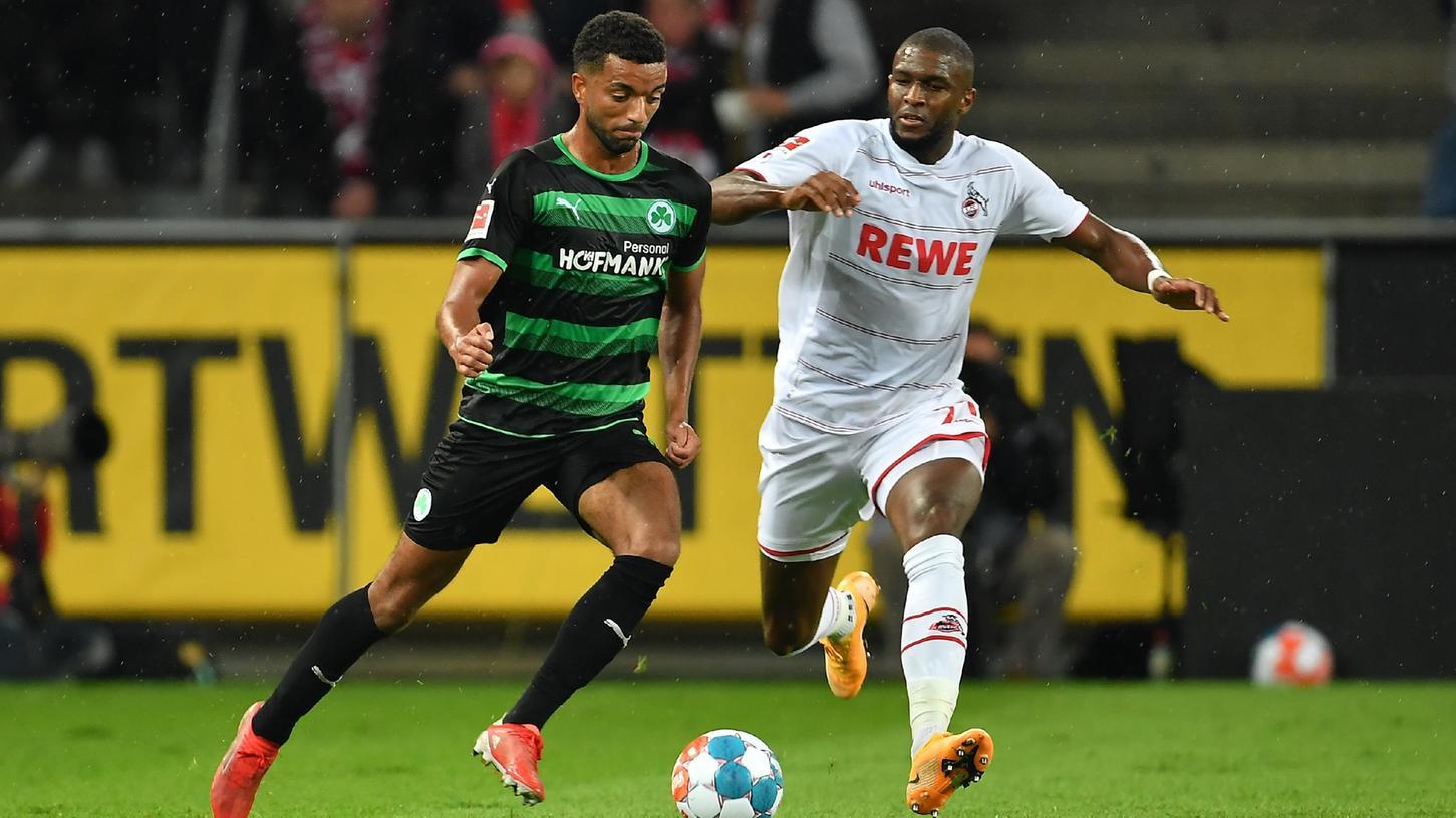 Plötzlich Bundesligaspieler: Timothy Tillman (links) durfte zuletzt gegen Köln und Anthony Modeste für das Kleeblatt starten.