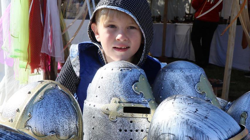 Stolzer Recke: der sechsjährige Alex aus Höchstadt.