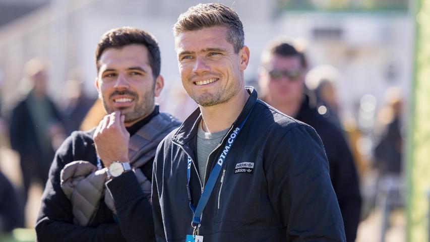 Und auch FCN-Coach Robert Klauß ließ sich das DTM-Rennen in Nürnberg nicht entgehen.
