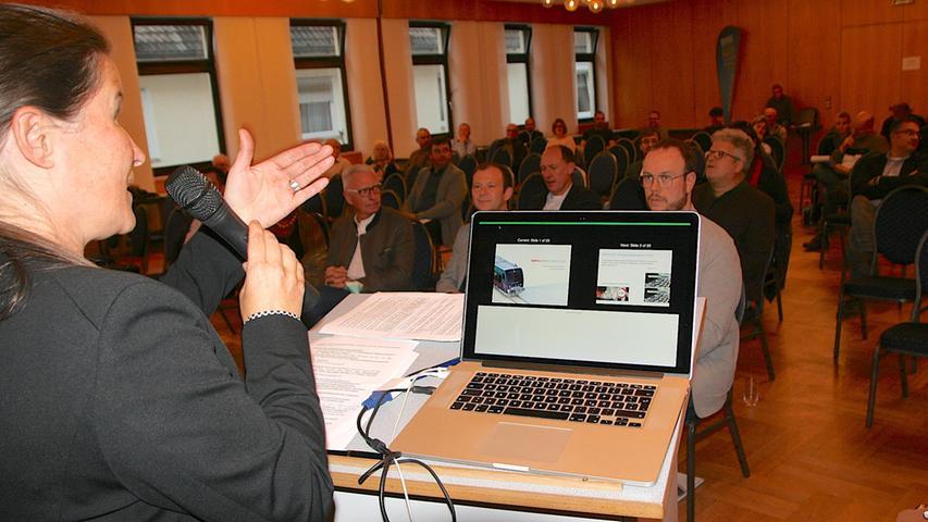 Bürgermeisterin Christiane Meyer sprach bei der Podiumsdiskussion zu