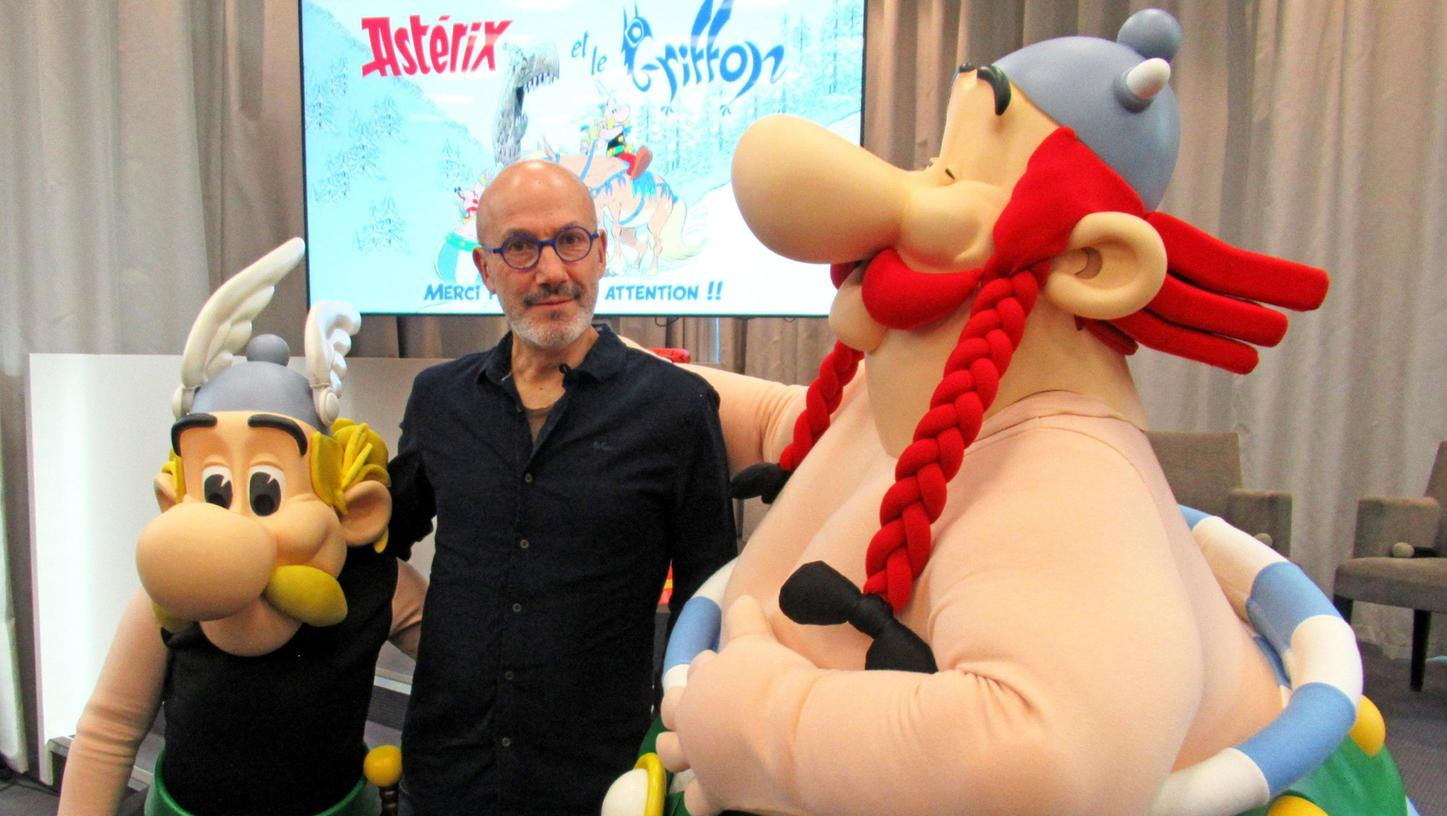 Comicautor Jean-Yves Ferribei der Vorstellung des neuen