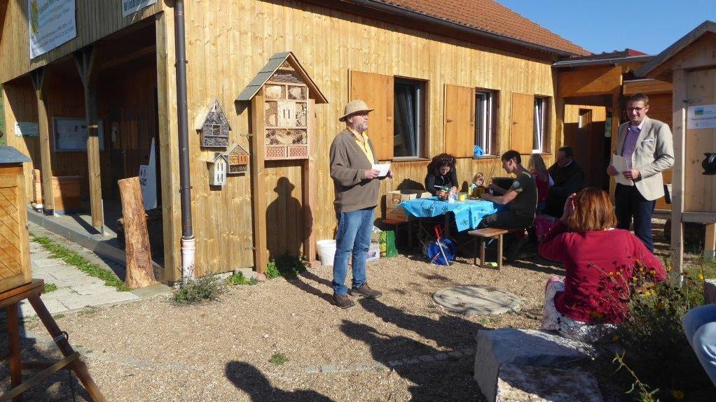 Gut besucht war die Veranstaltung im Rahmen der Klimawoche im Kreislehrbienenstand  Lützelsdorf.