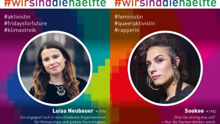Die diesjährige Plakatreihe wurde von Mädchen und Frauen erarbeitet und zeigt bedeutende und inspirierende Frauen, die auf vielfältige Weise ein Vorbild sind.