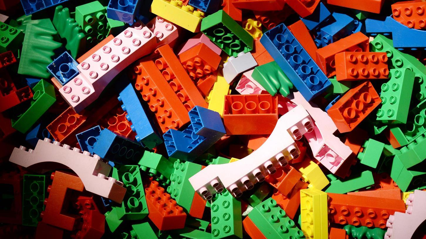So bunt und vielfältig wie die Kundschaft: Legosteinchen.