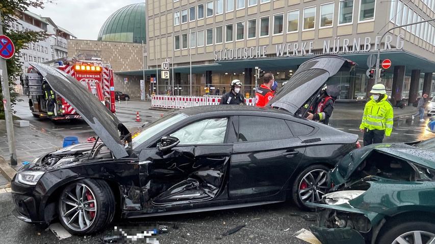 Am Dienstagnachmittag ereignete sich am Plärrer ein schwerer Verkehrsunfall.