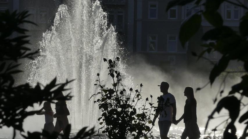Sehr romantisch: Ein Springbrunnen in Bad Kissingen.