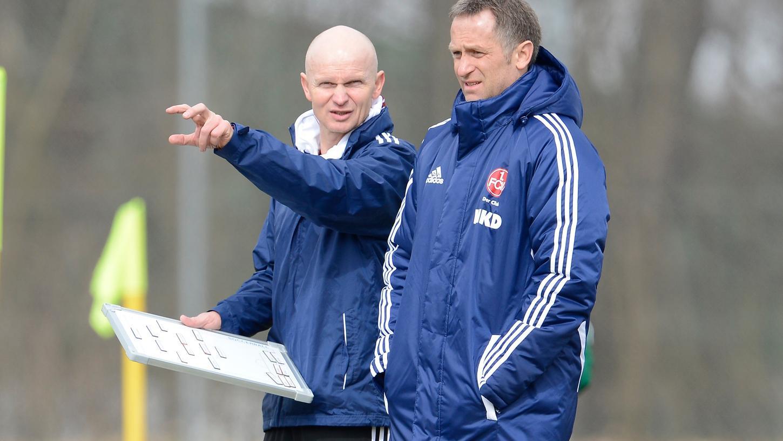 Gutes Duo: Michael Bischoff (links) mit dem damaligen NLZ-Leiter Rainer Zietsch.