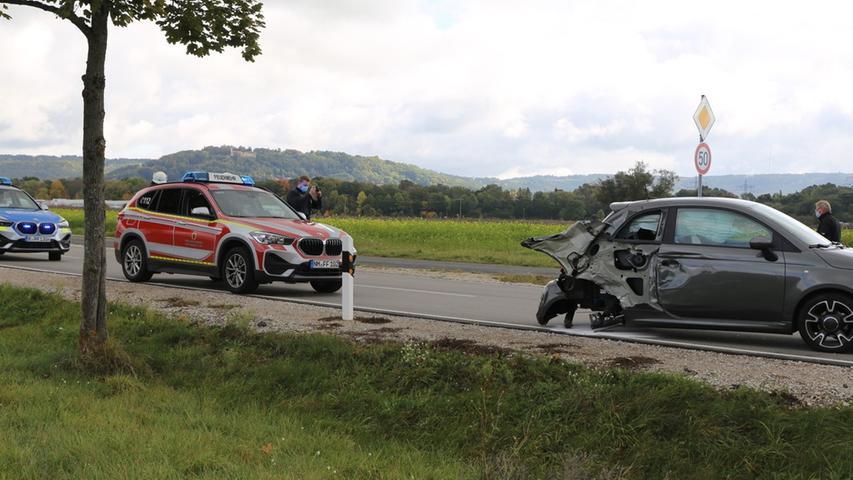 Glück im Unglück: Die Fahrerin des Fiat wurde leicht verletzt.
