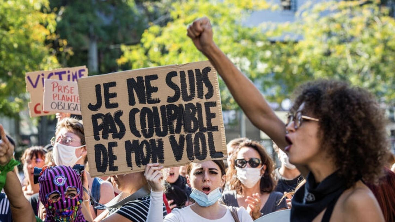 Demonstartion der #DoublePeine-Bewegung am Sonntag, den 10. Oktober, in Montpellier.