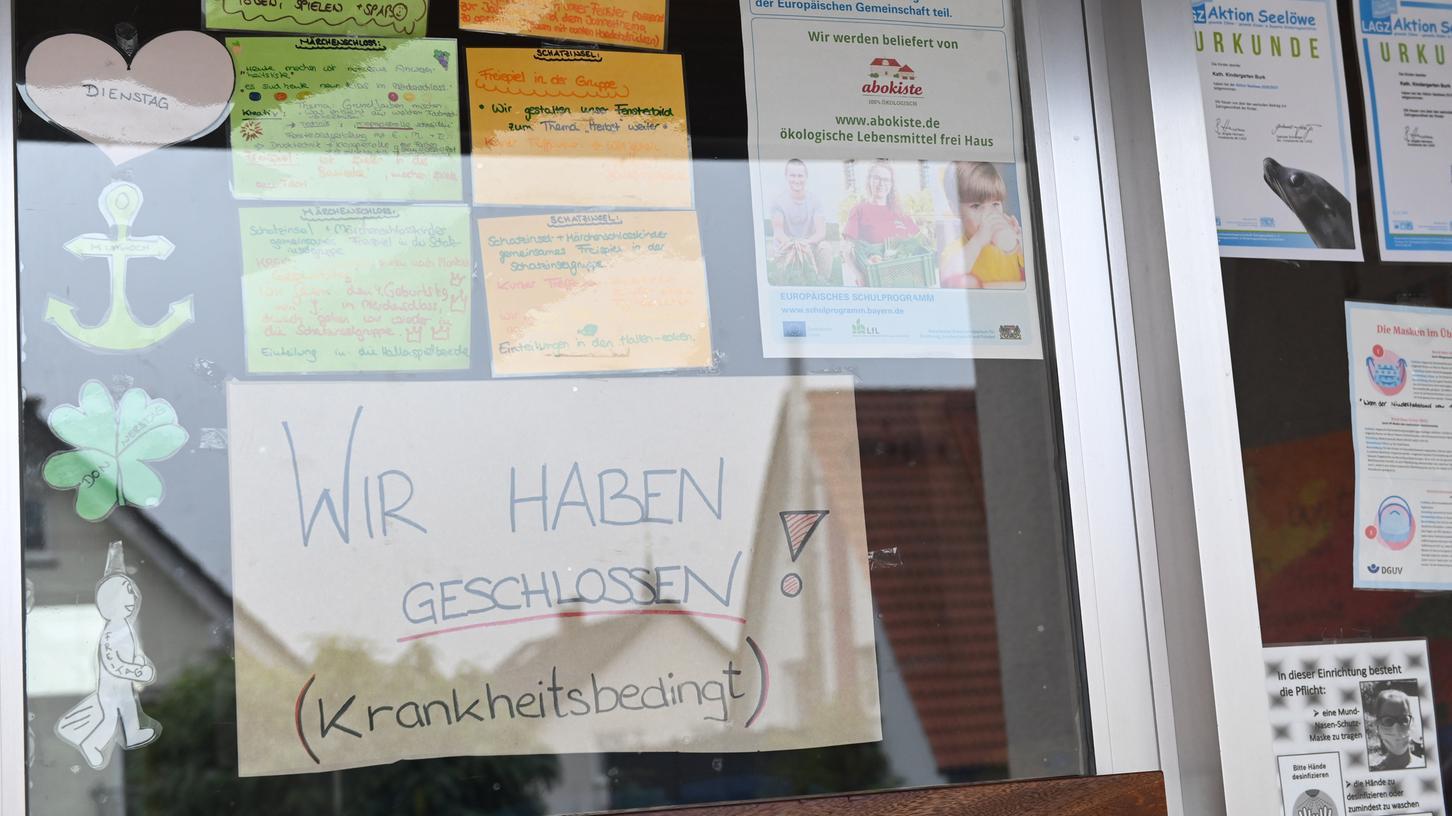Krankheitsbedingt geschlossen: Das komplette Stammpersonal des Kindergartens in Burk ist derzeit nicht arbeitsfähig.