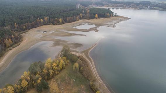 Der Rothsee liegt bald wieder trocken