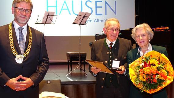 Verdienstmedaille der Stadt Gunzenhausen für Alfred Engelmaier