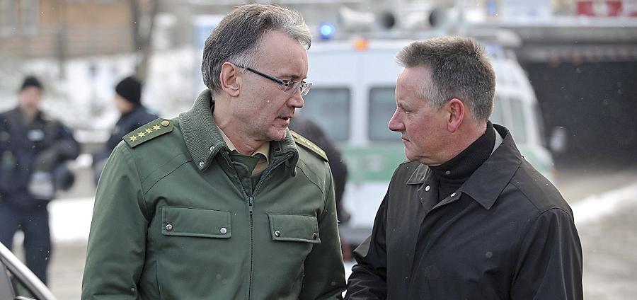 Polizeichef Roman Fertinger (li.), hier mit Oberbürgermeister Thomas Jung, macht einen Karrieresprung und verlässt Fürth.