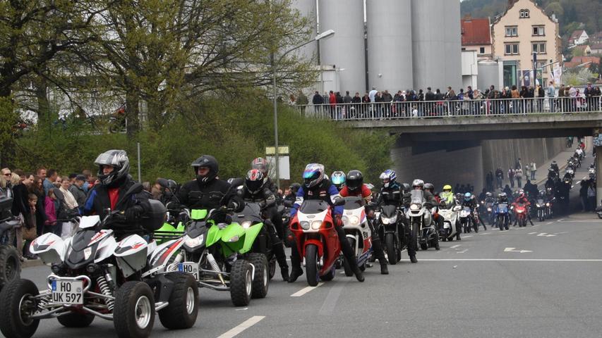 Das jährliche Treffen ist laut Polizeiangaben das Größte seiner Art in Süddeutschland...
