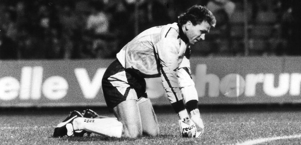 Club-Keeper Andreas Köpke konnte 1994, trotz eines gehaltenen Handelfmeters, den Abstieg des FCN in Dortmund nicht verhindern
