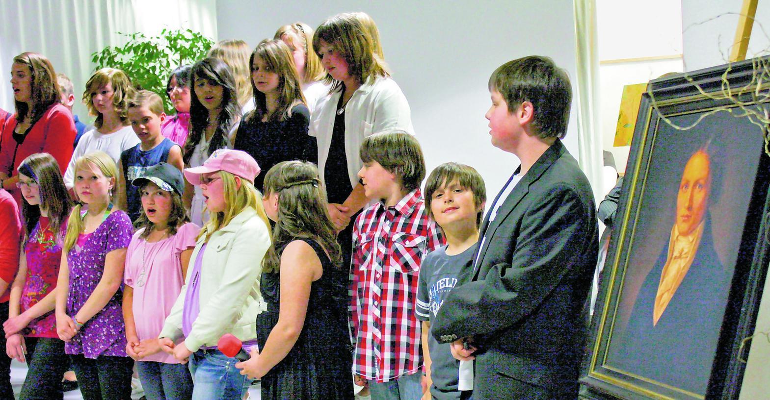 Alles Spix: Der Chor der Spix-Schule würzte den Spix-Abend mit Ausschnitten aus dem neuen Spix-Musical.