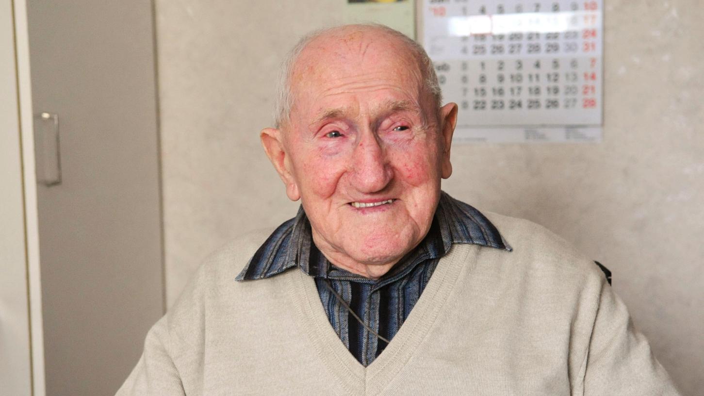 Martin Dressel war mit 108 Jahren der älteste Nürnberger.