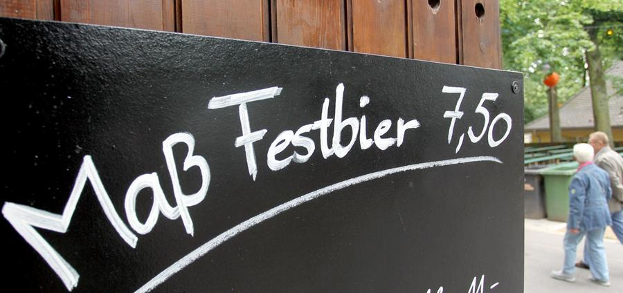 Der Bierpreis bleibt heuer stabil bei 7,50 Euro pro Maß.
