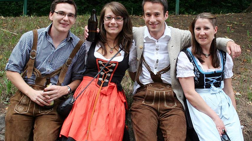 Die Bergkirchweih-Besucher am ersten Tag