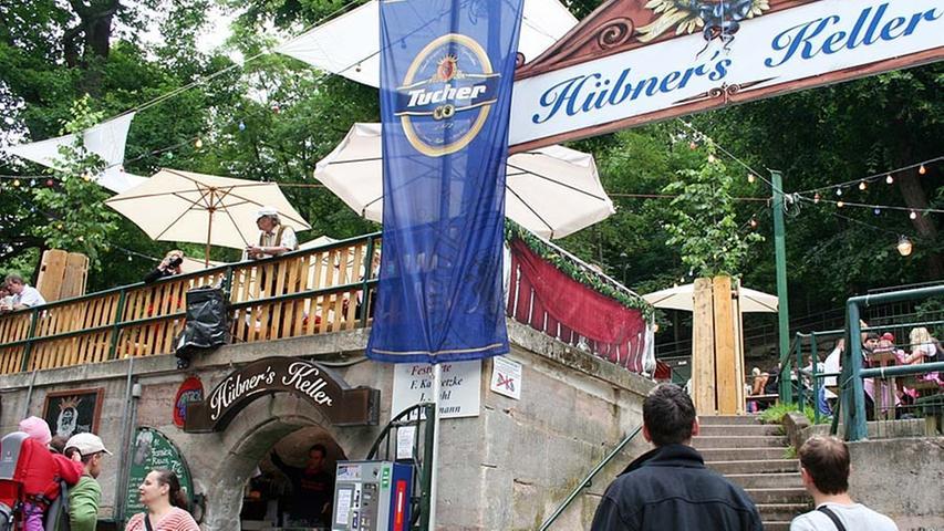 Die zum Hübner's Keller gehörende Brauerei stellte ihr Bier ursprünglich im Gasthaus