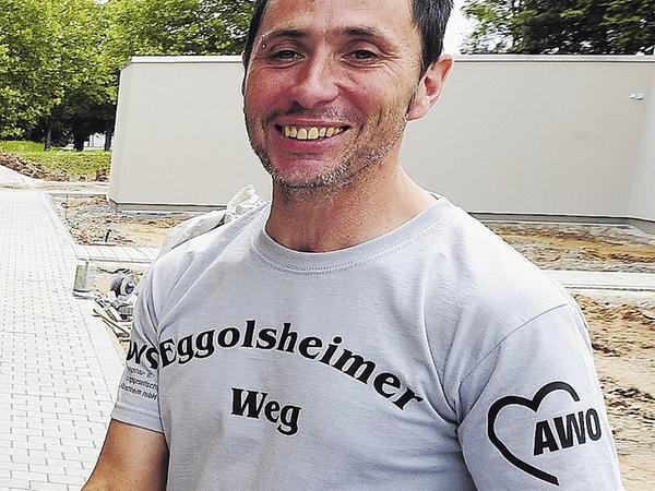 Christian Koschmieder trägt die Zukunft auf der Brust.