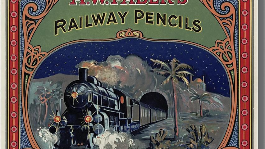 Diese Stifte wurden für Eisenbahnen produziert: Marketing in seiner Anfangsphase.