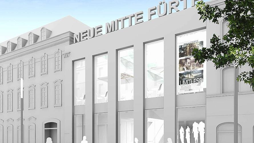 Eine von vielen Ideen: So oder ähnlich könnte nach den Vorstellungen der Firma MIB ein Zugang zum Wölfel-Areal aussehen, der auf Höhe des jetzigen City-Kinocenters entstehen würde. Entwurf: MIB