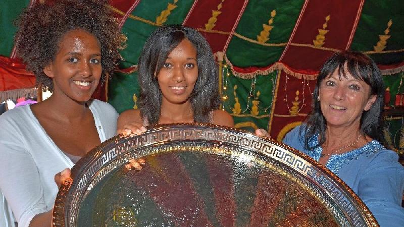 Auch afrikanische Handwerkskunst wurde präsentiert.