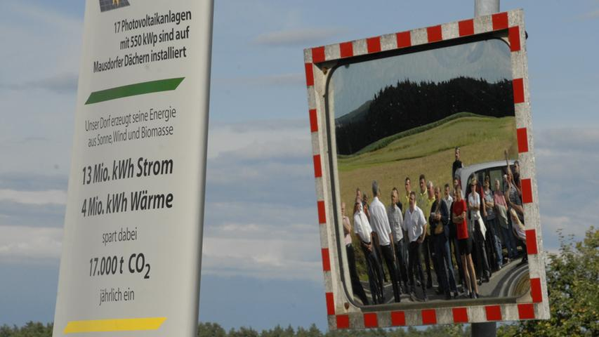 In Mausdorf spiegelt sich die Energiewende: Voraussetzung ist eine intakte Dorfgemeinschaft, die durch die Gemeinschaftsprojekt eher noch gewachsen ist.