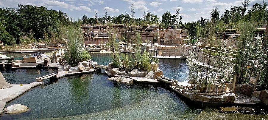 Die Tümmler des Nürnberger Tiergartens halten sich nicht mehr nur im alten Delfinarium auf, sie erobern sich die neue Wasserwelt.
