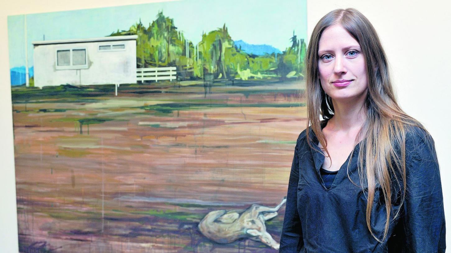 """In Meike Lohmanns Malkosmos herrscht """"Land unter""""."""