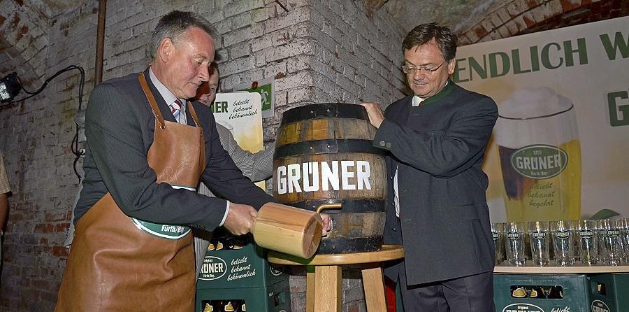 Original nach altem Rezept gebraut ist das alte neue Grüner-Bier.