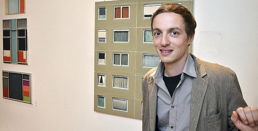 Die abstrakte Komposition wird bei Tobias Stutz zum Inhalt des Kunstwerks.
