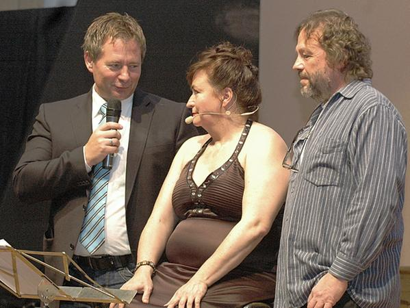 OB Thumann, Lizzy Aumeier und Golly Hertlein (von links)