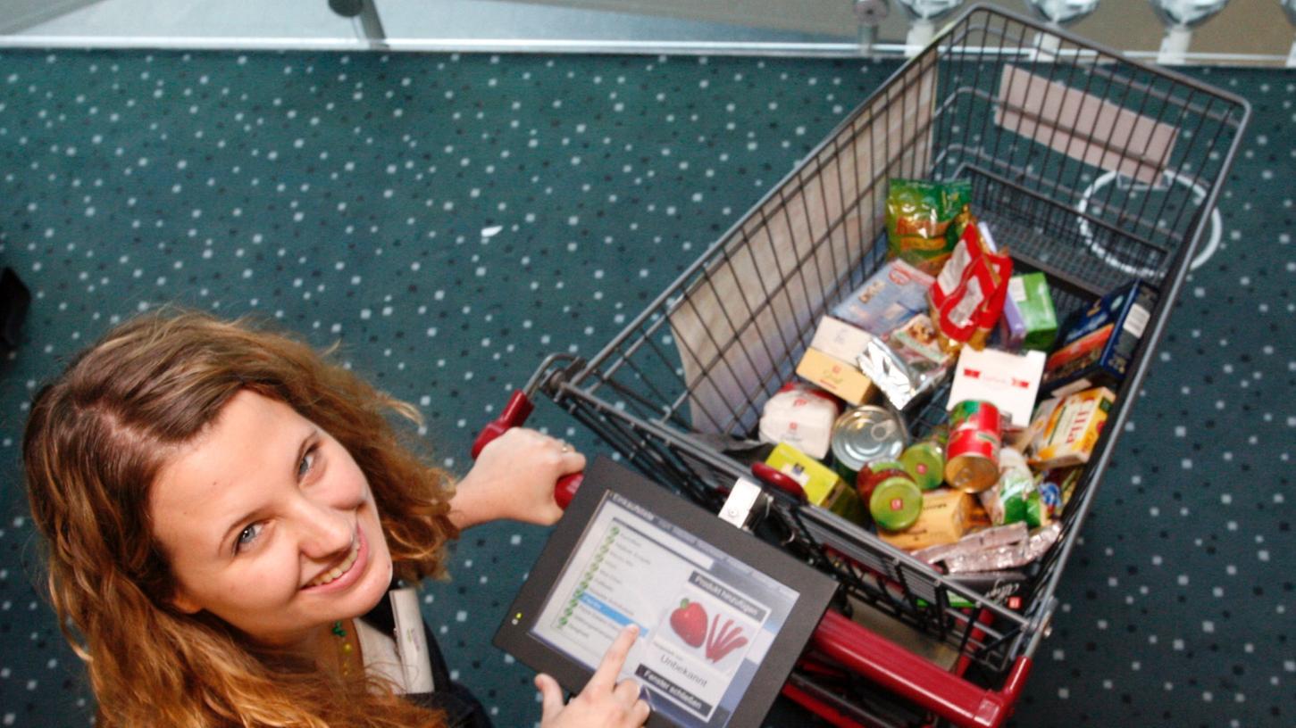 Wo geht es denn hier zum Gemüse? Dieses Navigationssystem für Einkaufswagen weiß nicht nur Bescheid, sondern führt Sie schnurstracks zum gesuchten Produkt.