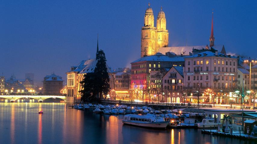 Nicht nur das Zentrum der europäischen Finanzwelt, sondern auch bestechend malerisch ist Zürich. Zürichsee, Alpenpanorama und Großstadtflair laden in die Schweiz ein.