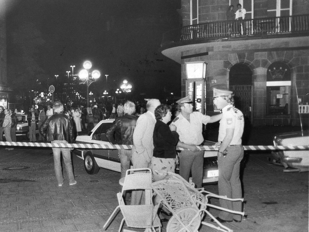 Nürnberg, 1982, Achtziger Jahre, 1980er, Neonazi Helmut Oxner erschießt drei Ausländer. Foto: Vrbata.