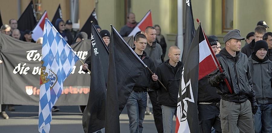 Auch beim Neonazi-Treffen in Wunsiedel waren Aktivisten des
