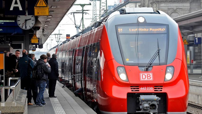 Auf der S-Bahn-Linie 1 zwischen Bamberg und Hartmannshof verkehren die neuen Züge vom Typ