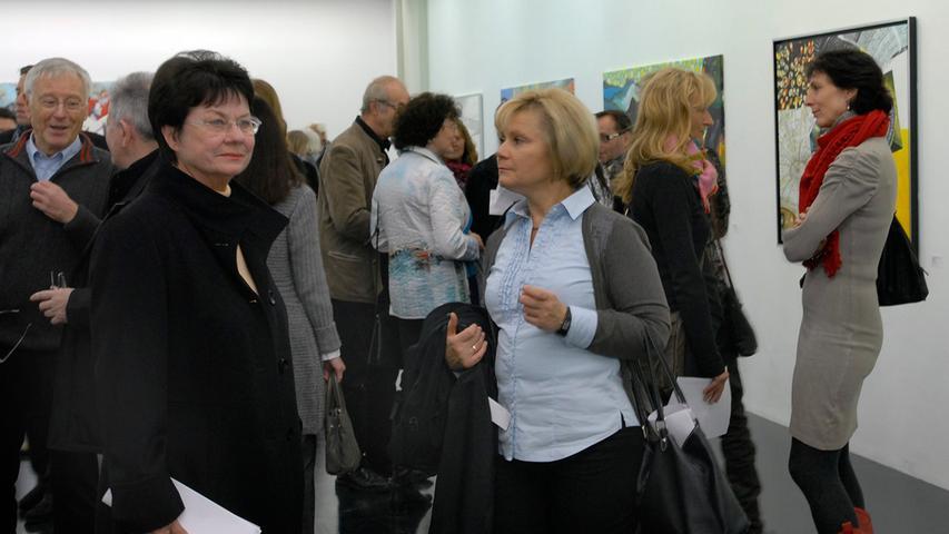 Bei der Winterausstellung des Kunstvereines Erlangen herrschte schon bei der Vernissage großer Andrang.