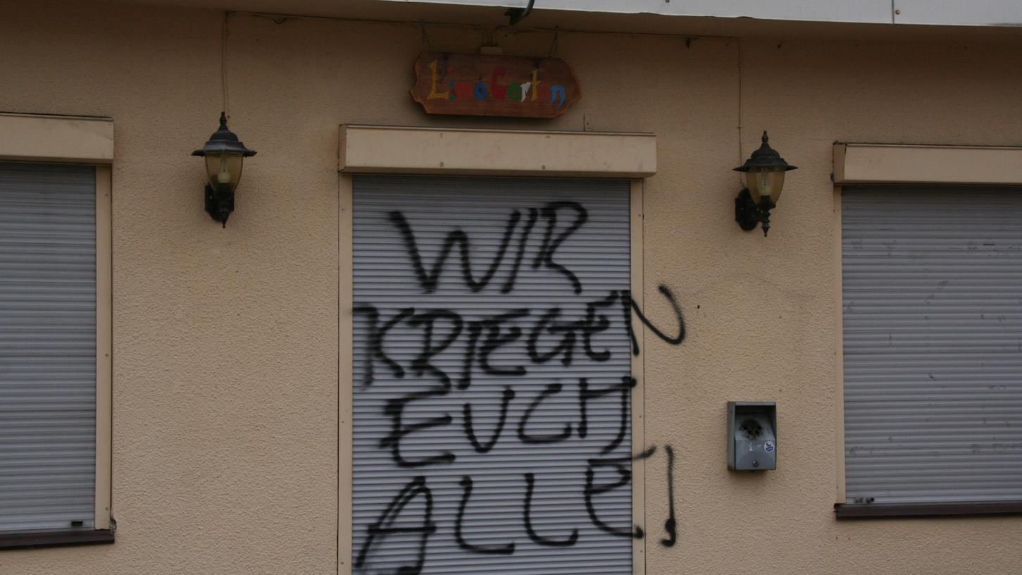 Auch das Weißenburger Jugenzentrum wurde in der Vergangenheit bereits mit Parolen beschmiert.